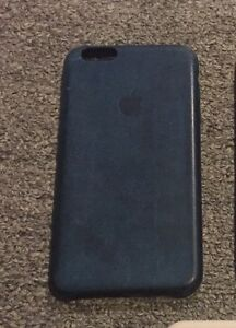 reputable site 4e96e 813bd Details about Authentic Apple iPhone 6 Plus/ 6S Plus Leather Case OEM -  Midnight Blue