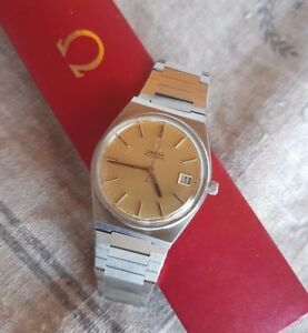 OMEGA-SEAMASTER-DATE-562-ORIGINAL-gold-DIAL-Automatic-Vintage-Watch