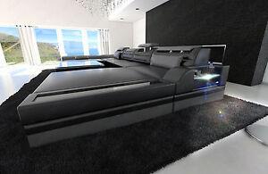 Superbe La Foto Se Está Cargando Big Sectional Sofa MONZA U Shaped With LED