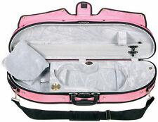 Bobelock Half Moon Puffy 1047P 4/4 Violin Case with Pink Exterior and Grey Inter