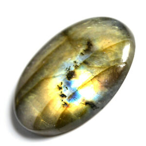 Cts-34-40-Natural-Multi-Fire-Labradorite-Cab-Oval-Cabochon-Loose-Gemstone