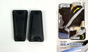 Pair Seat Belt Clips Comfort Adjuster No Neck Tention Of The Seatbelt Auto Car