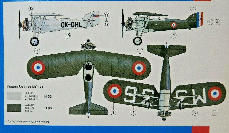 Bausatz 1:72,0839,OVP,NEU französisches Flugzeug SMER MORANE-SAULNIER MS 230