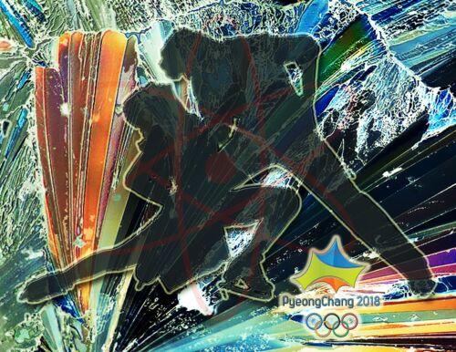 2018  Olympic Poster//PyeongChang South Korea-Figure Skating Pairs 17x22 inch