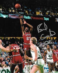"EARL CURETON SIGNED 1983 PHILADELPHIA 76ERS 8"" x 10"" PHOTO W/ COA"