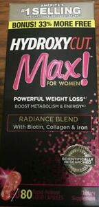 1 Of New HYDROXYCUT MAX For Women Powerful Weight Loss 80 Capsules exp:10/21