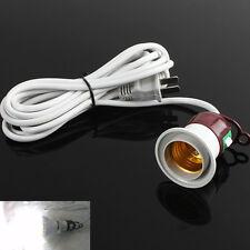 E27 Edison Screw Light Lamp Bulb Holder Cap Socket Switch 2.5m Power Cable Cord