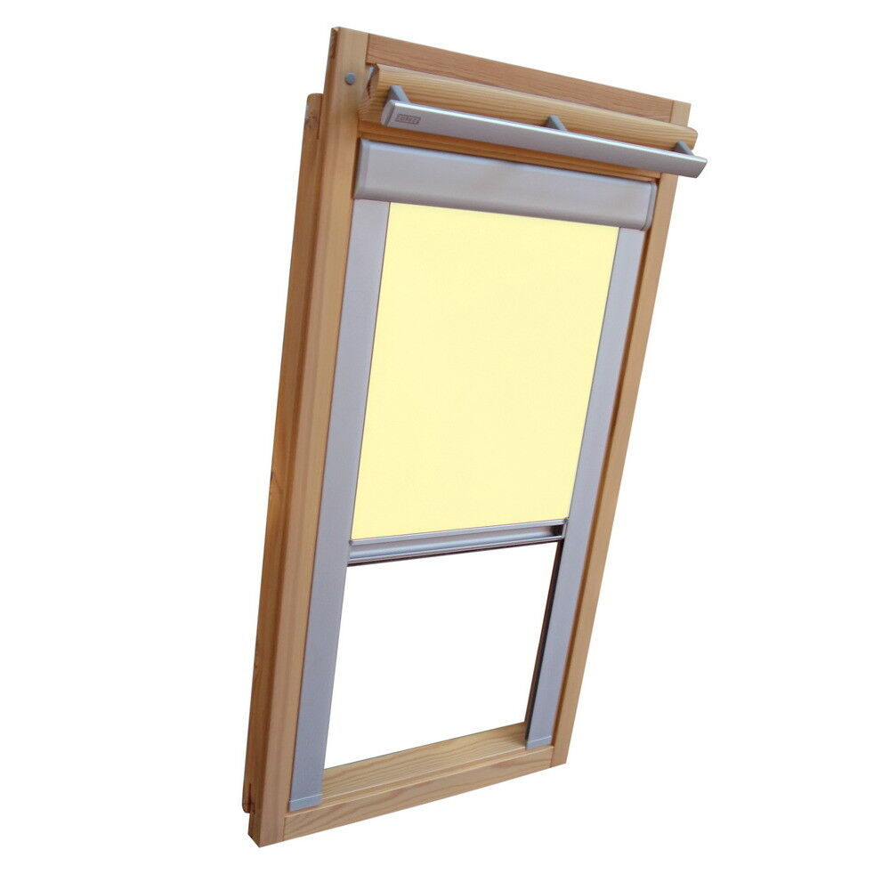 Verdunkelungsrollo ALU Thermo für Velux Dachfenster VU VL Y VKU - hellgelb   Günstig    Perfekte Verarbeitung    Reichhaltiges Design