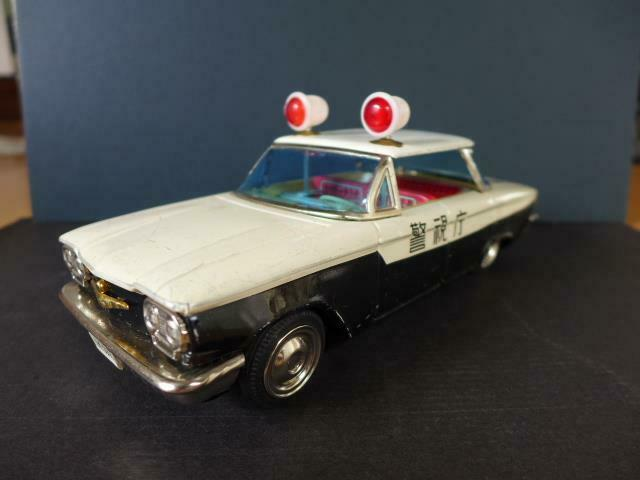 P.D P.D Patrol Tin Car Japan Made Toy 1960S Retro Police Rare Vintage F S from Japan