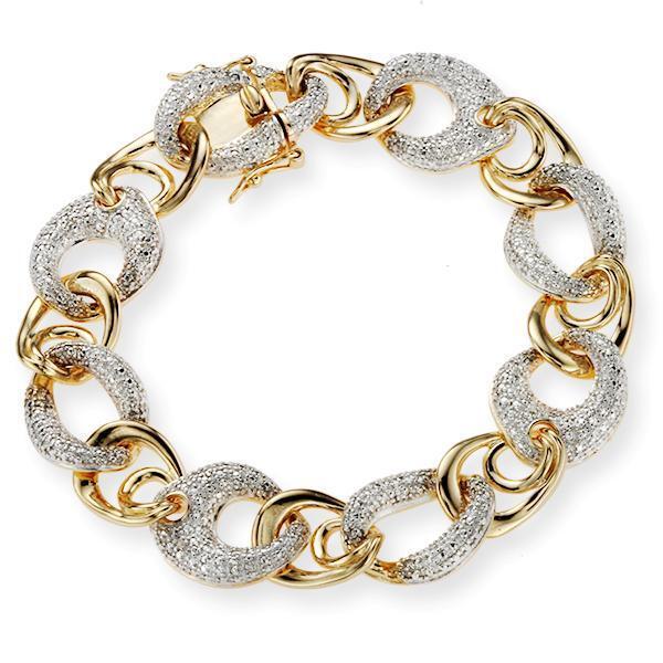 New Diamond Accented New Wave Bracelet