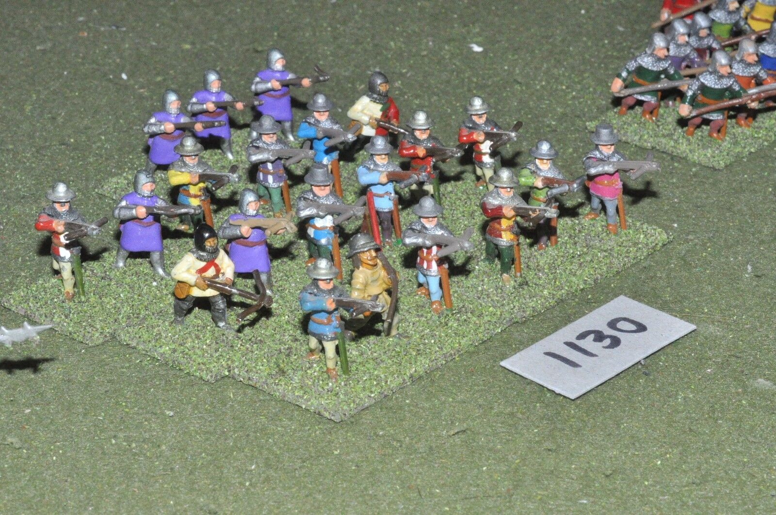 25mm medieval crossbowmen 21 figures (1130) metal painted