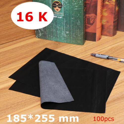 100pcs Carbon Paper Transfer Copy Black Sheets Graphite Tracing Wood Canvas Art