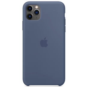 2019-iPhone-11-Pro-Max-Apple-Echt-Original-Silikon-Huelle-Case-Alaska-Blau