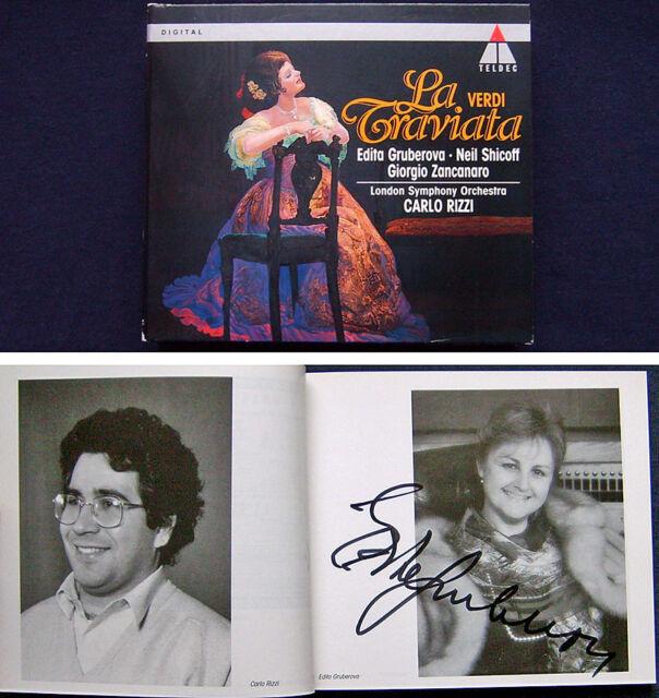 Edita GRUBEROVA Signed VERDI LA TRAVIATA Neil SHICOFF BEGLEY RIZZI 2CD Zancanaro
