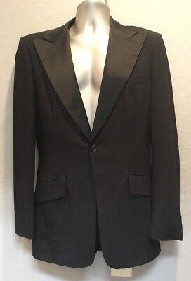 Men/'s Black Peak Tuxedo Coat Wool Dinner Jacket Mason Cruise 1 Button TUXXMAN