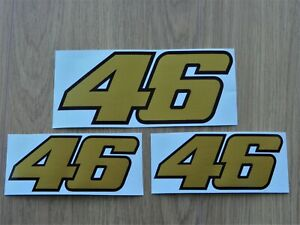 Details About 3 Valentino Rossi Aufkleber Sticker 46 Vr46 Gold Limited Edition Decal
