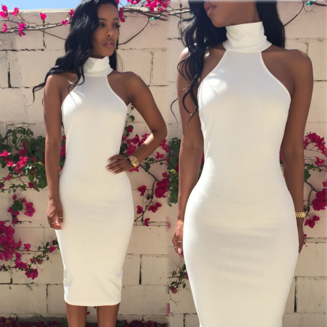 UK Women Bodycon Sleveless Maxi Long Ball Gown Evening Party Cocktail Sexy Dress