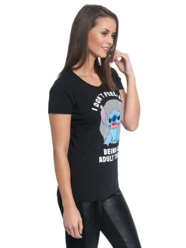 Lilo /& Stitch Adult Girl Shirt schwarz