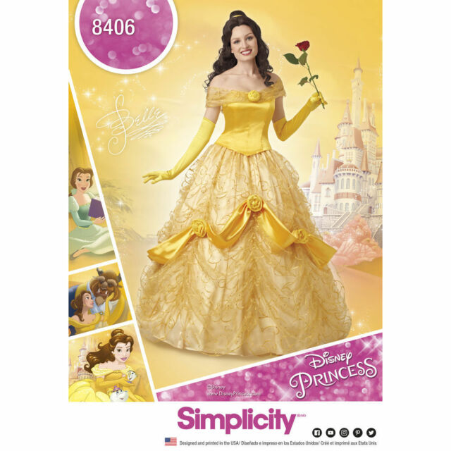 Misses Disney Belle Beauty and The Beast Costume Simplicity Sewing ...