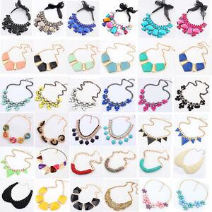 Moda-Joyeria-Charms-Collar-Con-Cristal-Grueso-De-Tendencia-Collar-Babero
