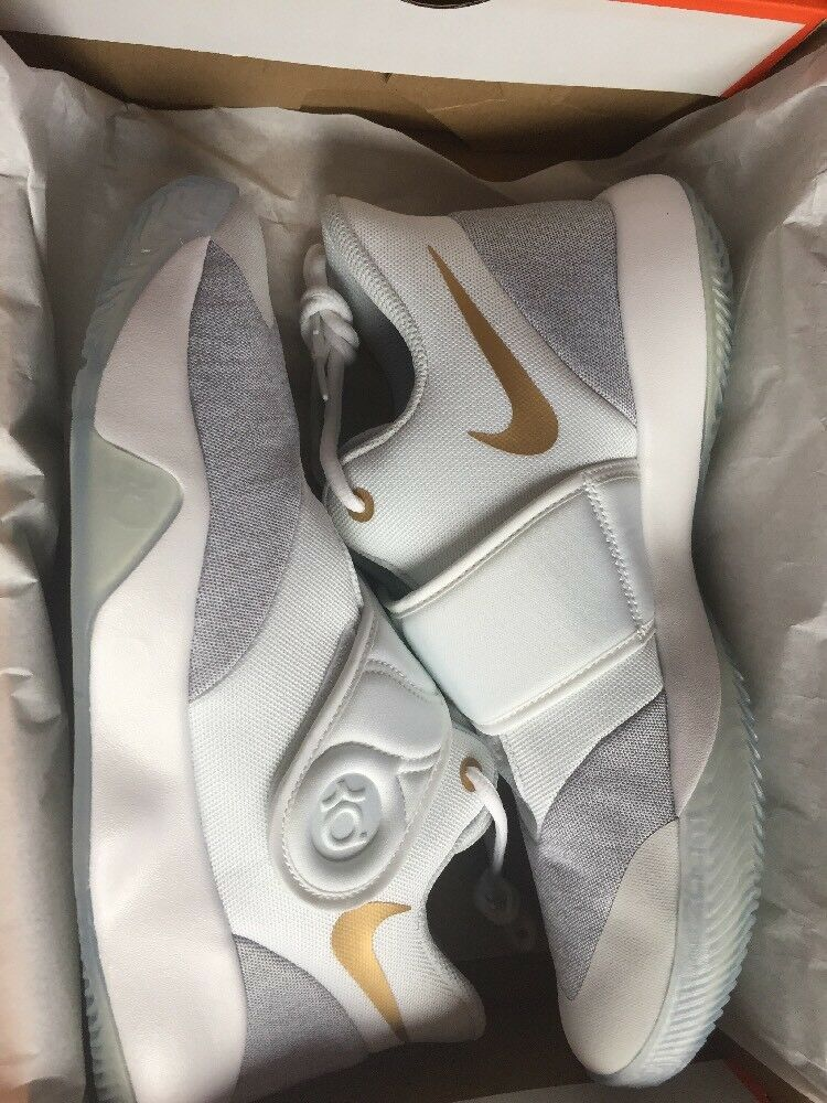 NEW MENS NIKE KD TREY 5 BASKETBALL WHITE gold KEVIN DURANT KEVIN DURANT AA7067