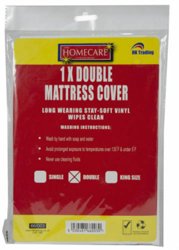 FITTED MATTRESS PROTECTOR SHEET SINGLE DOUBLE AND KING SIZE WATERPROOF VINYL