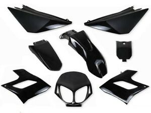 Kit-8-carenages-Derbi-Senda-DRD-Racing-Fairing-plastics-2004-2010-NOIR-BLACK