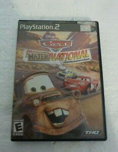 Cars Mater-National Championship PlayStation 2 Ps2 Game Disney Pixar Racing S-48