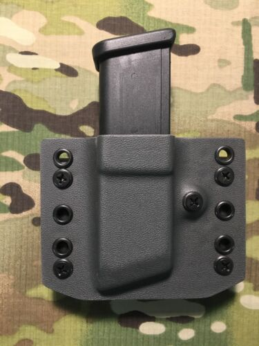 Armor Gray Kydex Single Magazine Carrier for Glock 9mm .40 .357