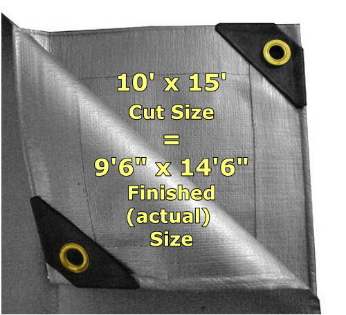 5/% OFF 2+ 12 mil Heavy Duty Canopy Tarp SILVER 3pl Coated Tent Car Boat Cover