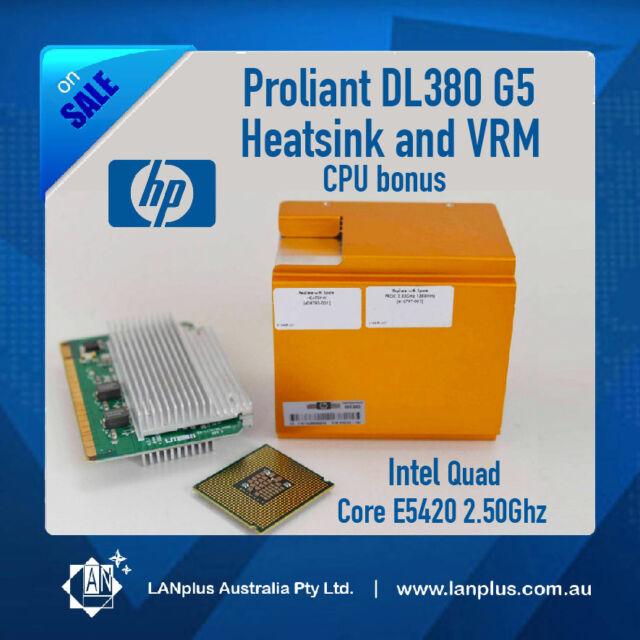 HP Genuine Heatsink VRM + Intel CPU E5420 Quad Core 2.50Ghz 4 Proliant DL380 G5
