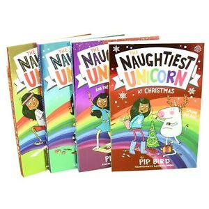 Naughtiest-Unicorn-Series-4-Books-Children-Collection-Paperback-Set-By-Pip-Bird