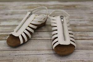 5e01b21bdd2d A2 by Aerosoles Yetaway Wedge Sandals-Women s size 6.5M White ...