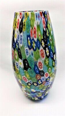 Vt6631-1a- Vaso Mit Murrine Colorato Ca. 22 Cm Aus Glas