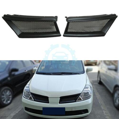 Fit For Nissan Tiida 2005-07 Resin Matte black Car Front Grille Grill Overlay