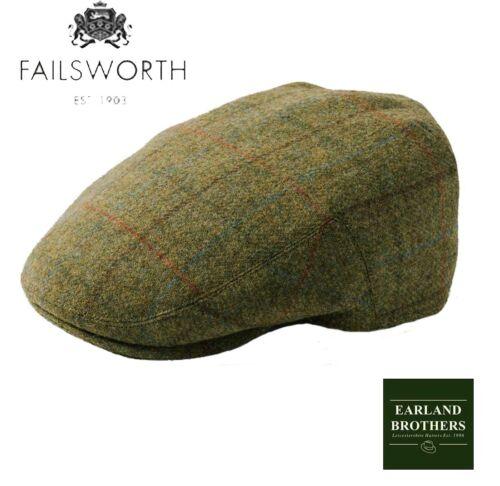 English Tweed Cap Failsworth Hats Merino Wool Country Caps Moon Fabric 54-63cm