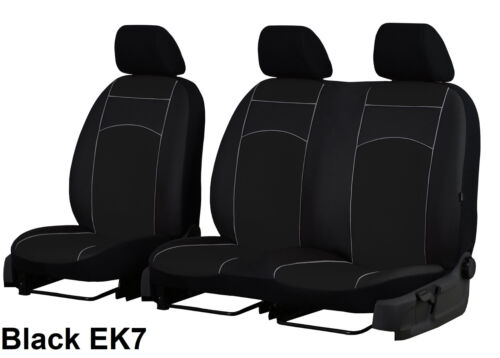 VOLKSWAGEN T5 2+1 2003-2015 ECO LEATHER TAILORED SEAT COVERS MADE TO MEASURE