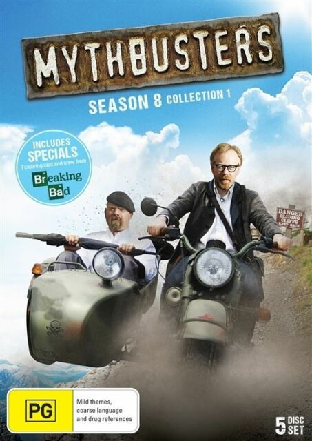 Mythbusters : Season 8 : Collection 1 (DVD, 2013, 5-Disc Set)-FREE POSTAGE