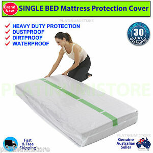 Image Is Loading 2 Single Bed Plastic Mattress Protector Storage Bag