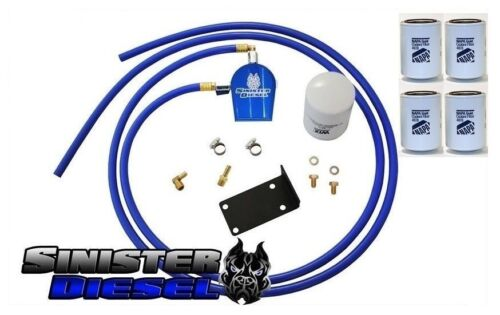 Sinister Coolant Filtration System W//4 Extra Filters for 07-09 Dodge Cummins 6.7