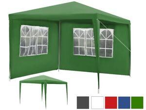 pavillon 3x3 + 2 murs Kiosque de jardin tente de jardin tente de ...