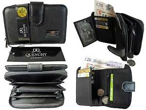 Ladies Leather Purse 2 Zipped Coin Sections 5 Trays 6 Credit Cards Purses QL225