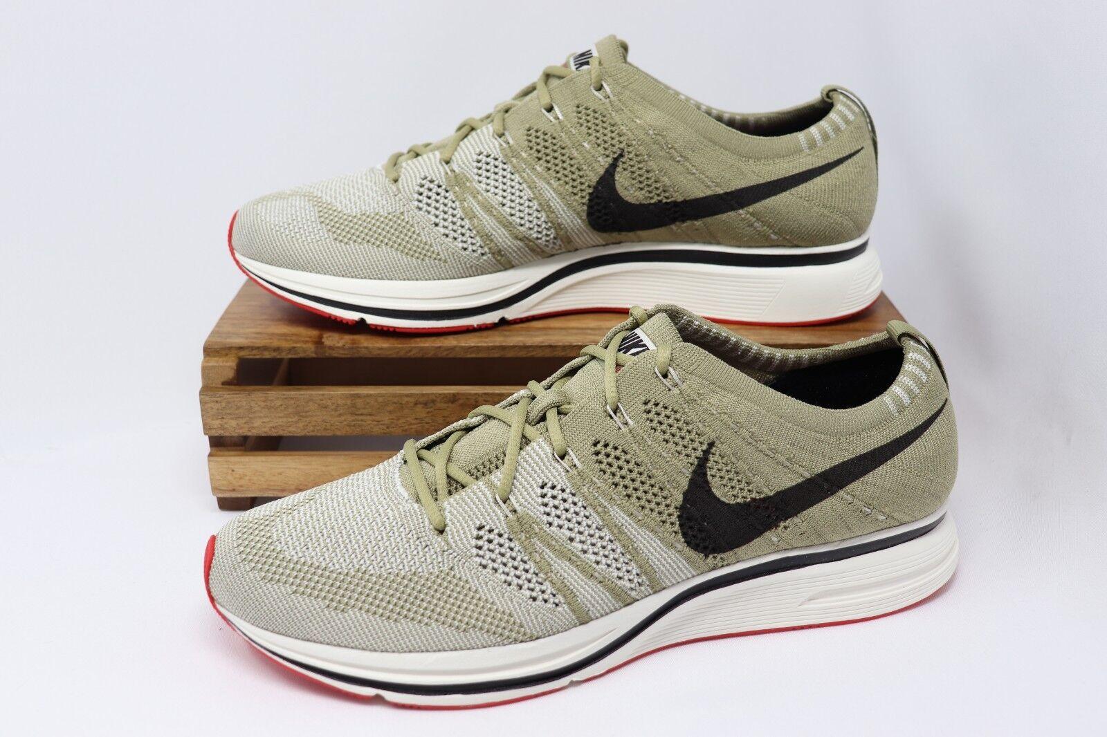 Nike Flyknit Trainer shoes Neutral Olive Velvet Brown AH8396-201 Men's NEW