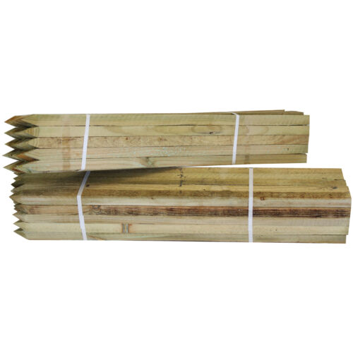 Tree Stakes 25 Pack Timber Wood Posts 75cm Square Pegs 25mm Wide Garden Support