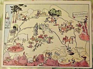 Carte de France Illustrées d'après J.P.Pinchon Lourdes Tarbes Pau Dax Aloses | eBay