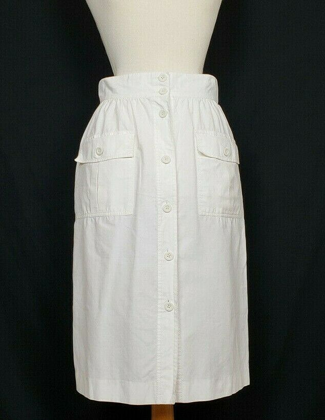 Vintage 80s fringe leaf white  skirt
