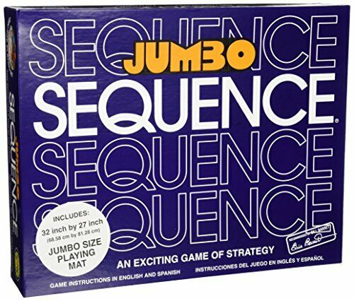 Box Edition with Cushioned Mat Cards and Chips Jax Jumbo SEQUENCE Game