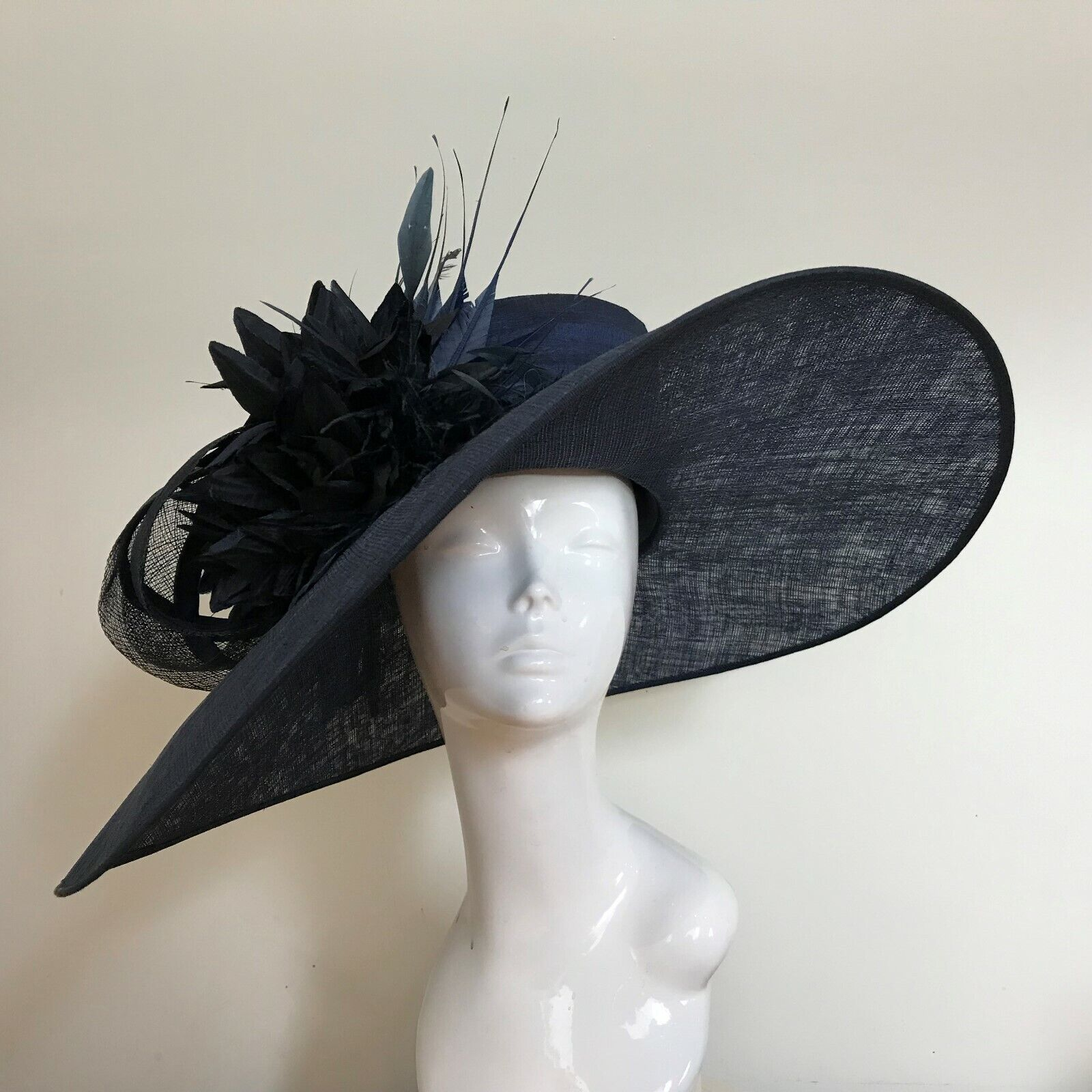Exclusive Navy Designer Millinery by Hat Couture Wedding Bridal AscotHat