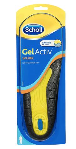 Scholl - Mens Gel Active Shock Absorbing Insoles for Work - Size 7-12
