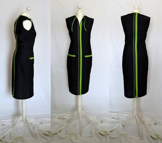 SALE green, grey, elegant, casual, pencil, designer dress Size 10, 14